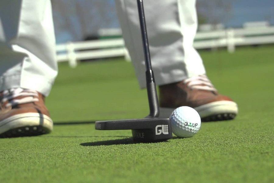 Hitting Golf Ball with Golf Putter