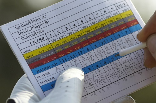 Holding and Calculating Golf Handicap Paper