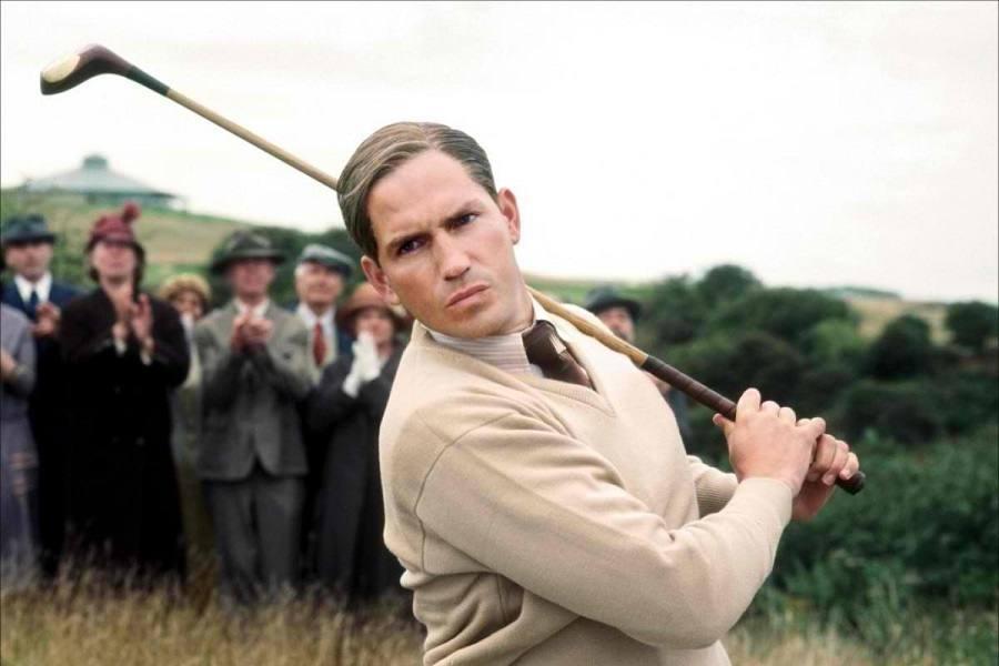 Christian Bale Playing Golf
