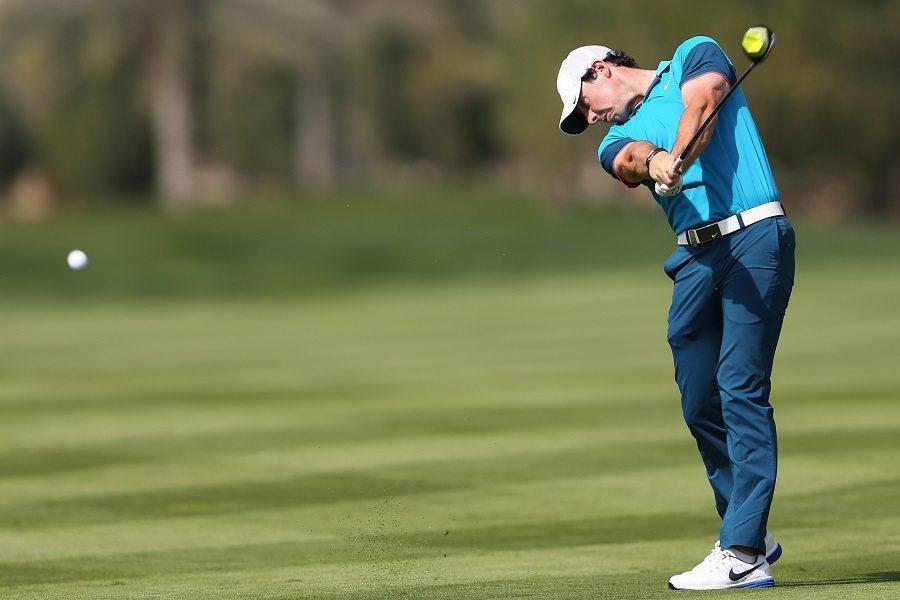 Man Taking a Golf Shot