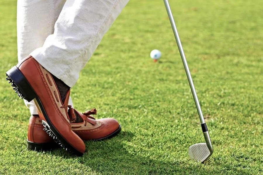 Wearing Golf Shoes on Golf Course